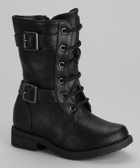 Black Moto-19KA Boot