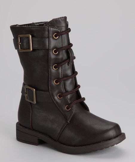 Brown Moto Boot
