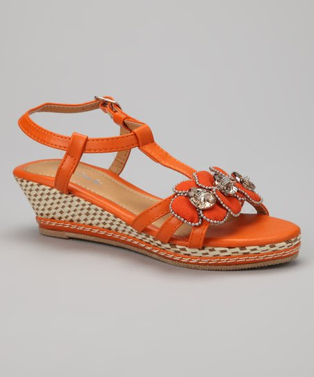 Orange Jewel Wedge