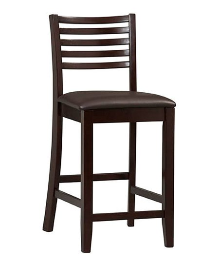 Espresso Ladder Back Triena Stool