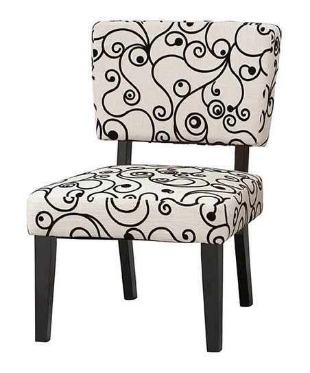 Black & White Circles Taylor Accent Chair