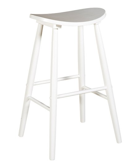 White Curve Stool