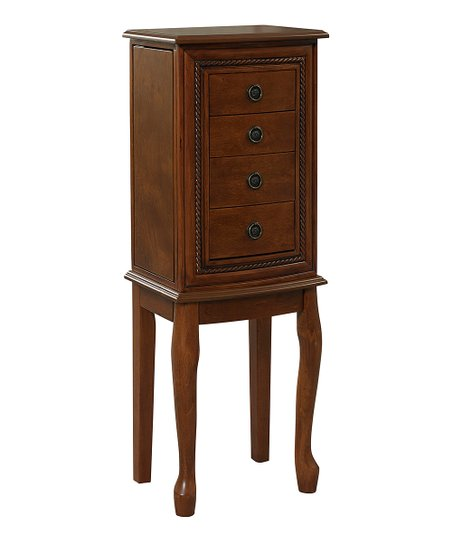 Light Walnut Grace Jewelry Armoire