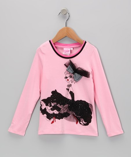 Pink Rhinestone Dress Tee - Toddler & Girls