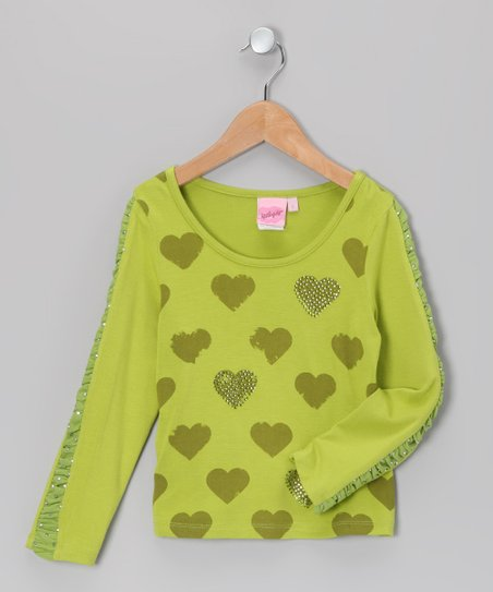Lime Heart Tee - Toddler & Girls
