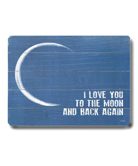 'I Love You to the Moon and Back' Wall Art
