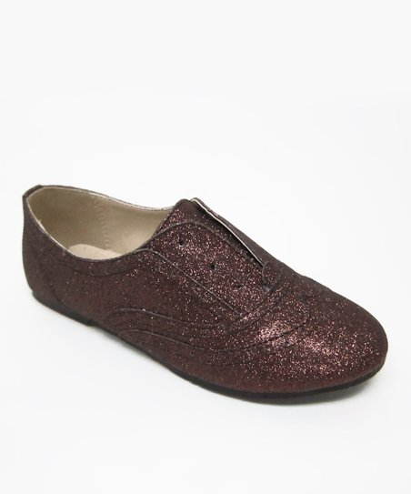 Brown Glitter Belen Oxford