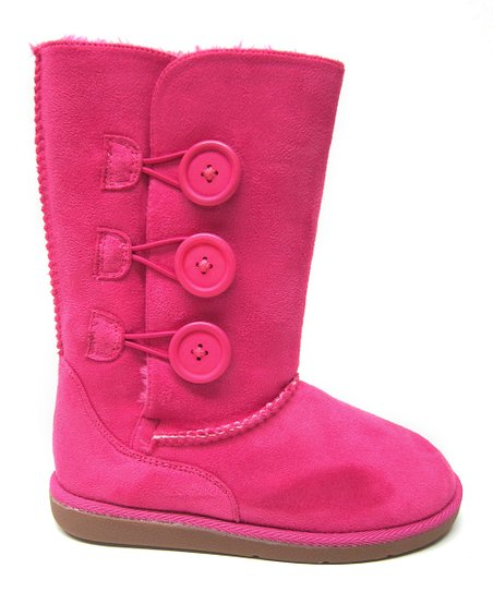 Hot Pink Button Hug Boot
