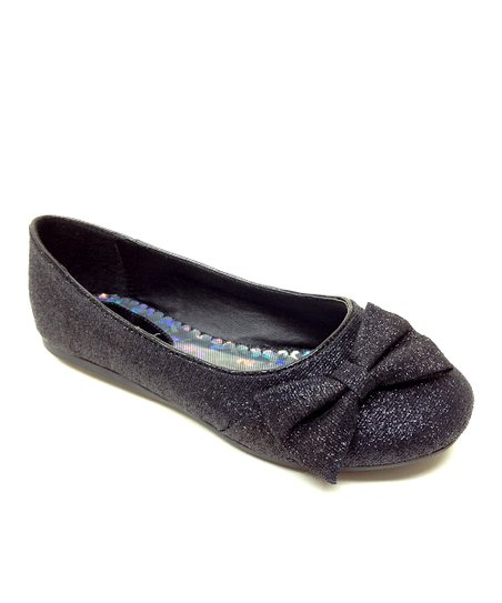 Black Teshi Bow Flat