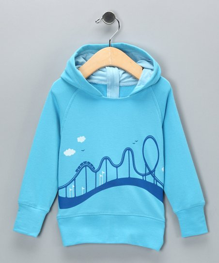 Blue Roller Coaster Bamboo Back-Zip Hoodie - Infant & Toddler
