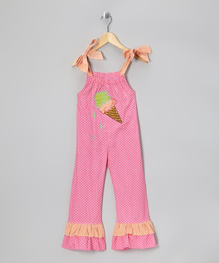 Pink Ice Cream Jumpsuit - Toddler & Girls