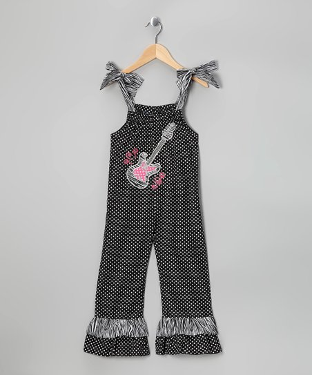 Black Guitar Jumpsuit - Toddler & Girls