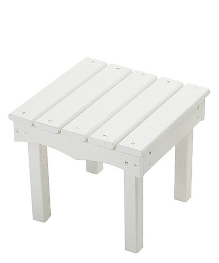 White Adirondack End Table