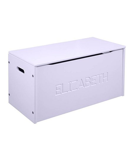 Lavender Personalized Toy Storage Chest