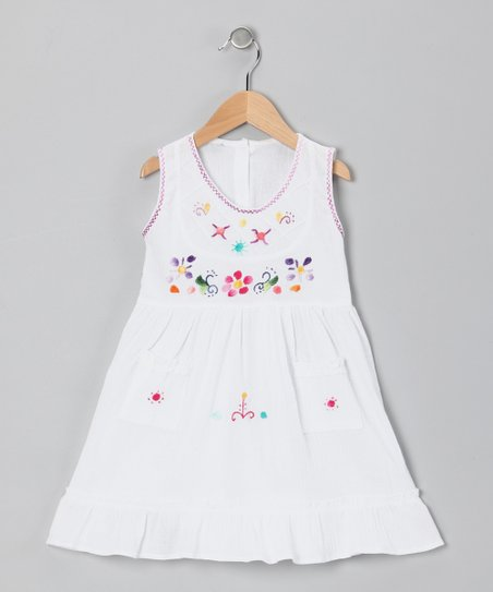 White Leonor Dress - Infant, Toddler & Girls