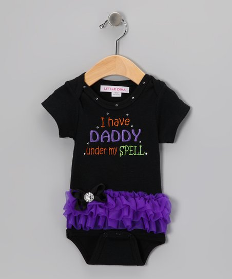 Black 'Daddy' Tutu Bodysuit - Infant