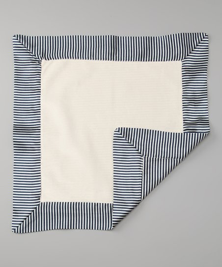 Denim Velvet Mini Stripe Deluxe Satin Lovey