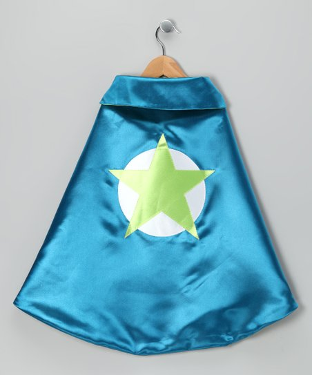 Peacock & Lime Soaring Star Two-Ply Cape