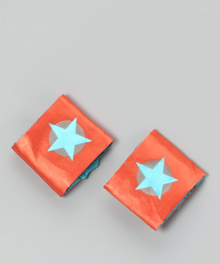Orange & Teal Soaring Star Power Cuffs