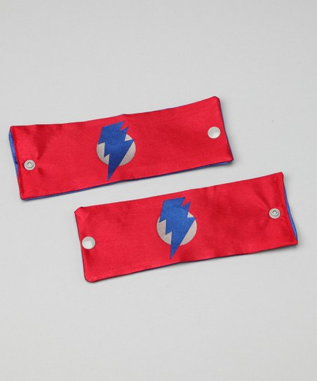 Red & Blue Lightning Leader Power Cuffs