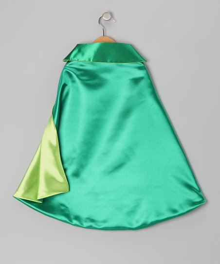 Grass Green &amp; Lime Two-Ply Cape - Toddler &amp; Kids