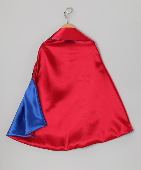 Red & Blue Two-Ply Cape
