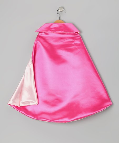 Hot Pink & Light Pink Two-Ply Hero Cape
