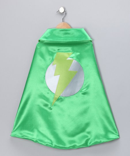 Grass Green & Lime Lightning Leader Two-Ply Cape