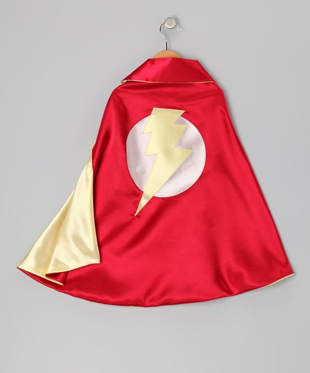 Red & Yellow Lightning Leader Two-Ply Cape