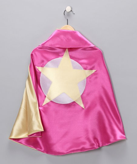Hot Pink & Yellow Soaring Star Two-Ply Cape