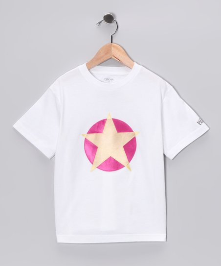 Pink & Yellow Soaring Star Tee - Toddler & Kids