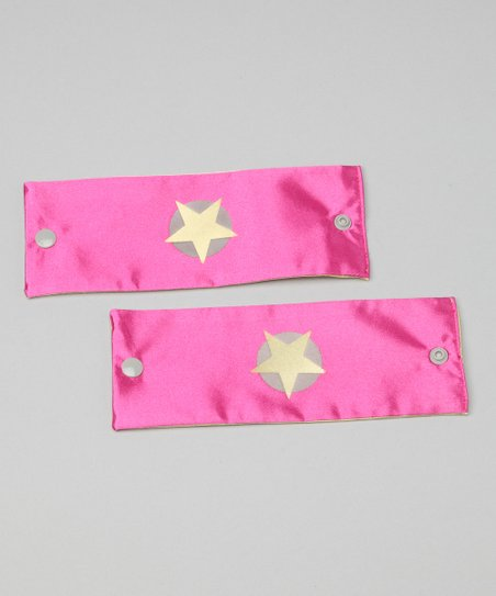 Hot Pink &amp; Yellow Soaring Star Power Cuffs