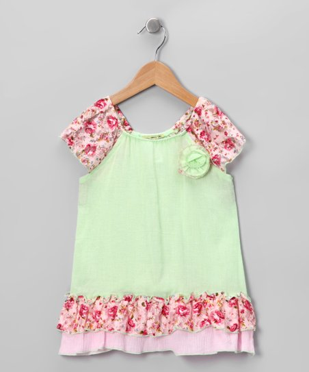 Green Mimi Peasant Tunic - Infant, Toddler & Girls