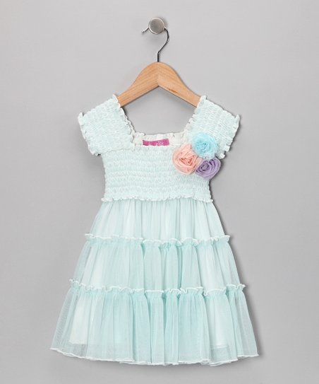 Blue Delphine Dress - Infant & Toddler