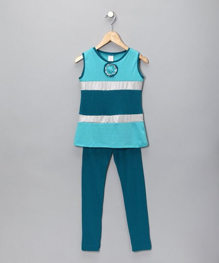 Baby Blue Tunic & Leggings - Toddler & Girls