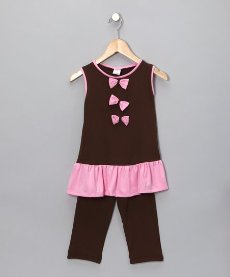 Brown Bow Tunic & Leggings - Toddler & Girls