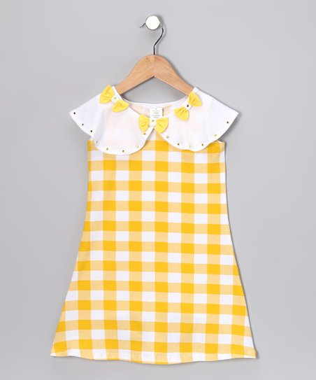 Yellow Plaid Dress - Toddler & Girls