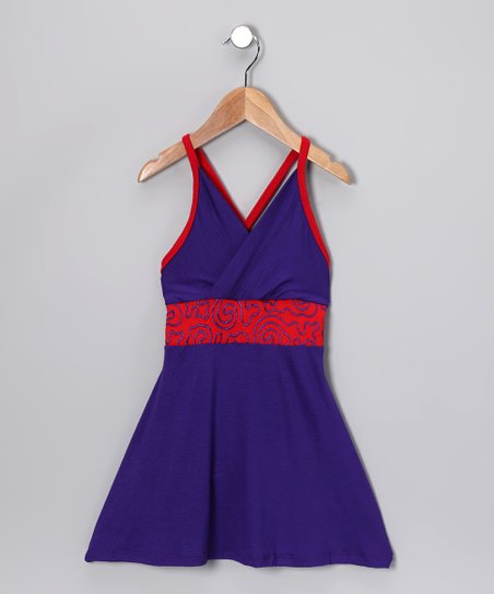 Purple & Red Swirl Dress - Toddler & Girls