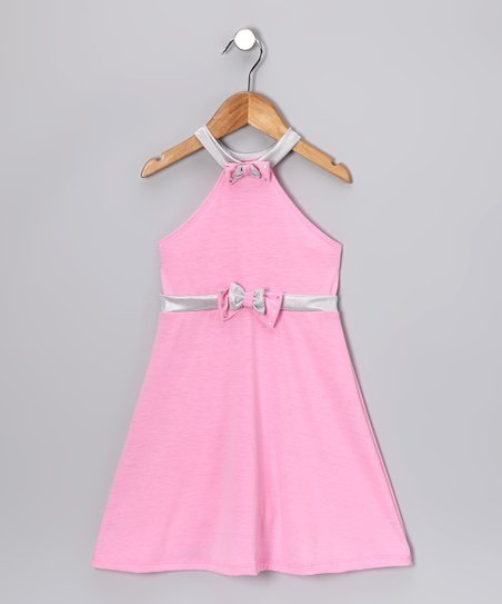 Pink &amp; Silver Halter Dress - Toddler &amp; Girls