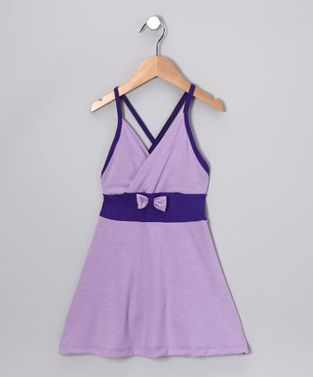 Lavender &amp; Purple Bow Dress - Toddler &amp; Girls