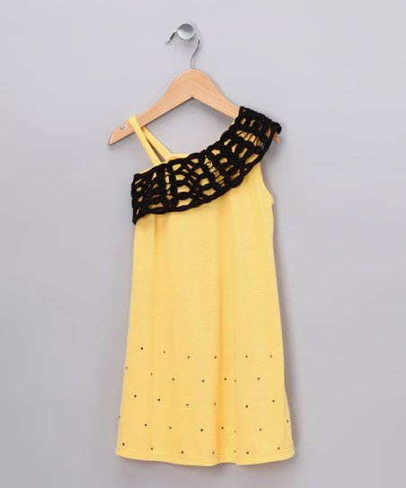 Yellow Asymmetrical Dress - Toddler & Girls