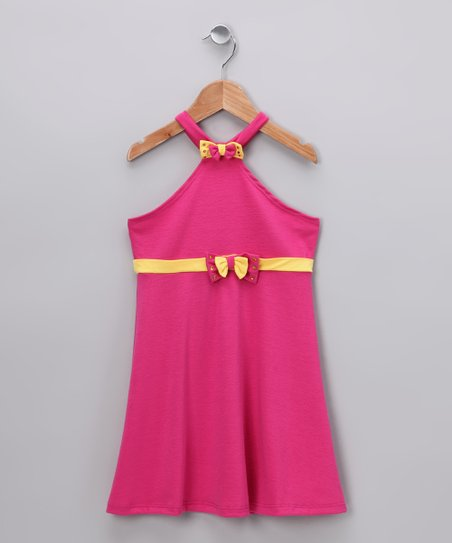 Fuchsia Halter Dress - Toddler & Girls
