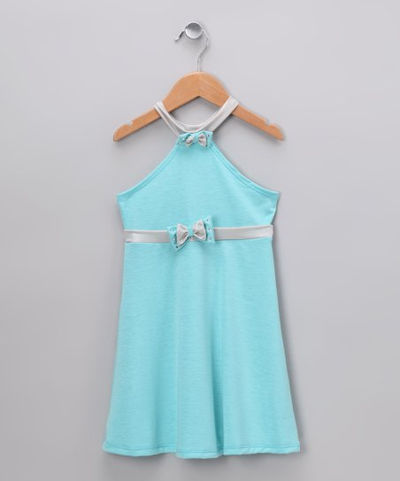 Baby Blue Halter Dress - Toddler & Girls
