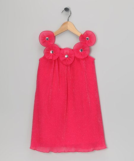 Fuchsia Floret Dress - Toddler
