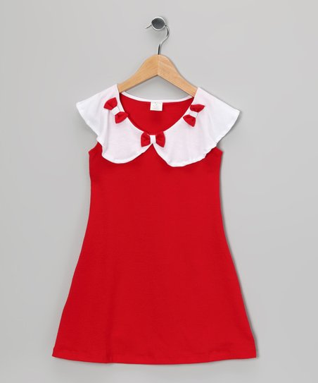 Red Bow Dress - Toddler &amp; Girls