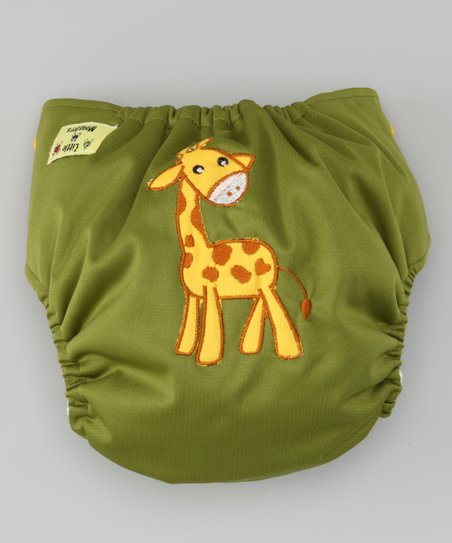 Olive Giraffe Pocket Diaper