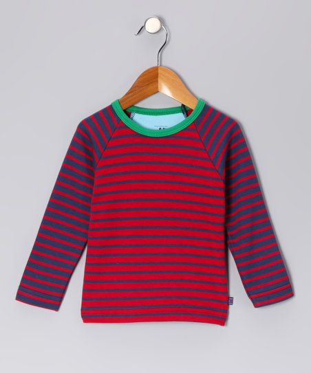 Red & Blue Richard Organic Top - Toddler & Boys