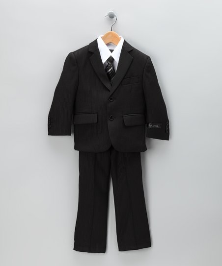 Black Five-Piece Suit Set - Boys