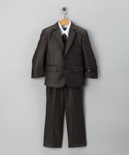Slate Five-Piece Suit Set - Toddler &amp; Boys