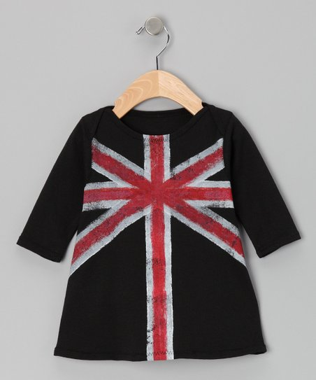 Lois Eastlund Red & Black Union Jack Dress - Infant